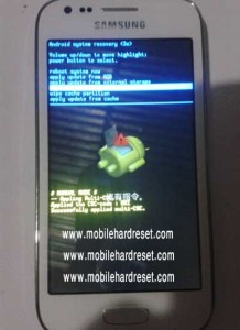 How to factory reset samsung galaxy ace 3 smartphone