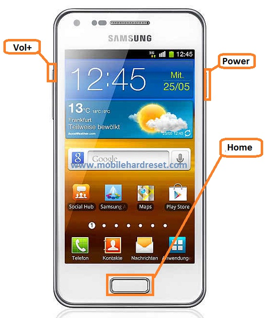 How to hard reset / factory reset Samsung Galaxy S Advance I9070P
