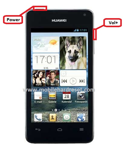 How to hard reset / factory reset Huawei Ascend Y300
