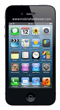 How to hard reset iPhone 4 4s