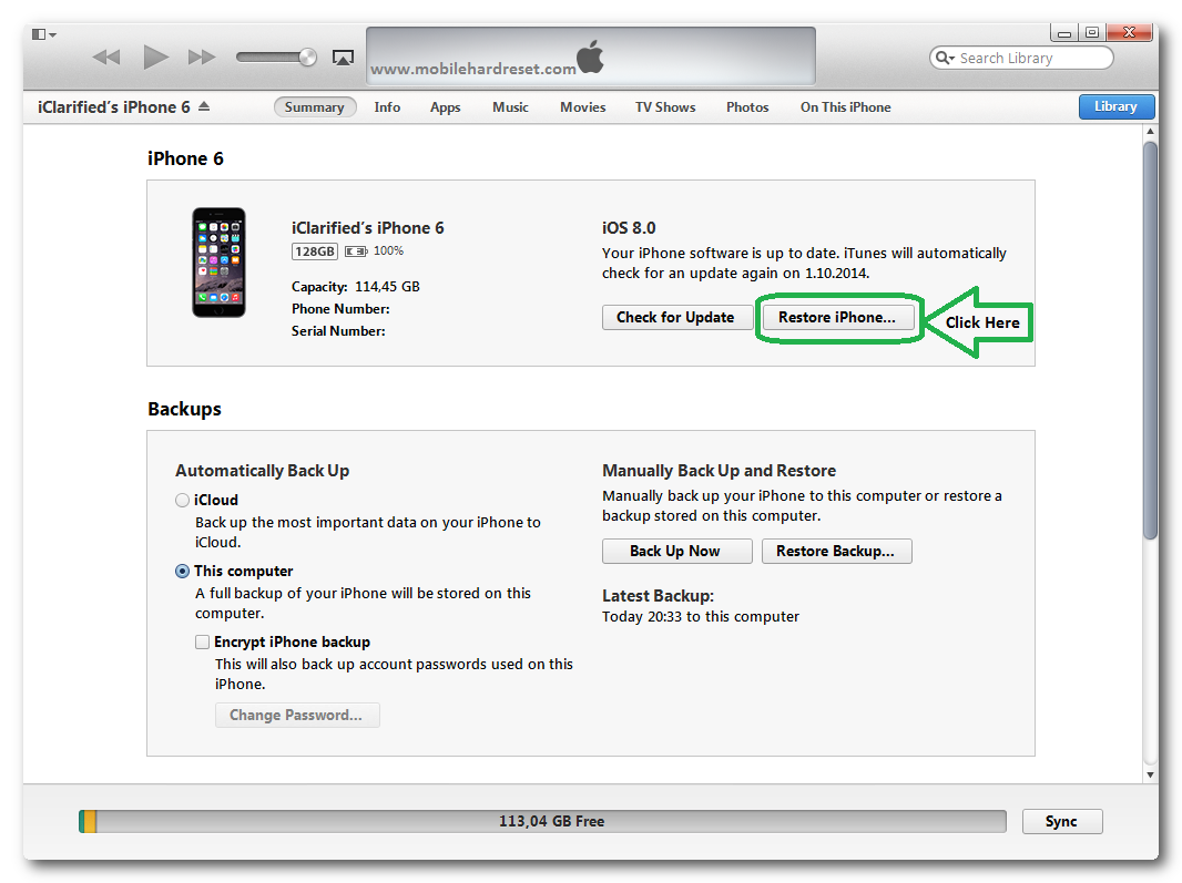 iphone 6 restore firmware