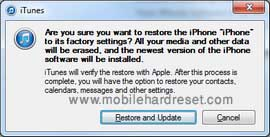 restore update iphone