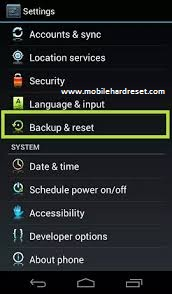 Acer Liquid M320 Factory reset