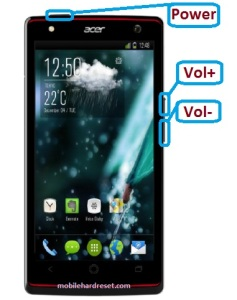 acer liquid e3 hard reset solution
