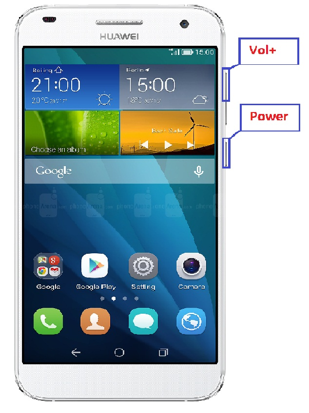 HUAWEI Ascend G7 Hard Reset