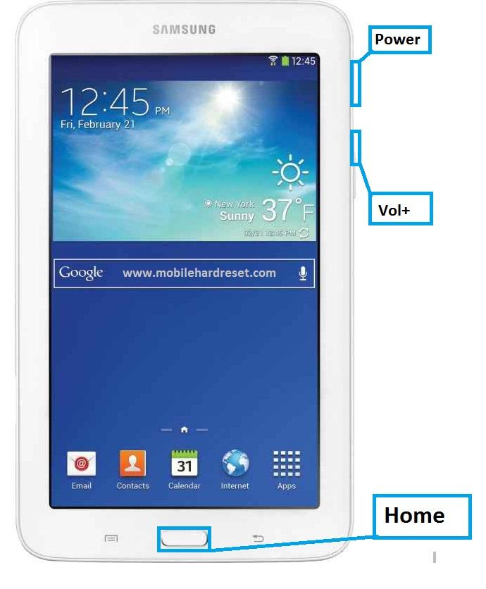 Samsung Galaxy Tab 3 Lite 7.0 VE Hard Reset
