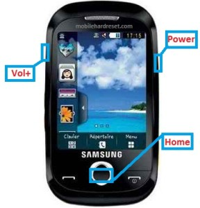 samsung s3850 corby 2 hard reset