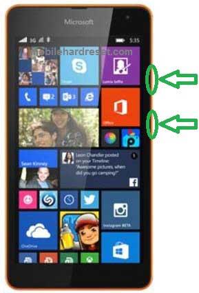 Microsoft Lumia 535  Factory Reset