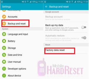 Samsung Hard Reset