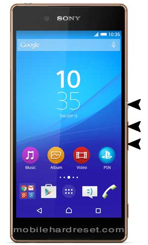 How to Hard Reset Sony Xperia Z3 plus with Factory Reset