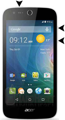 Acer Liquid Z320 hard reset