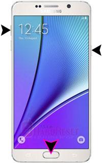 Samsung Galaxy Note 5 (CDMA) hard reset