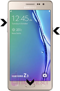 How to Hard/ Factory Reset Samsung Z3 Smartphone