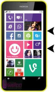 Nokia Lumia 630 hard reset