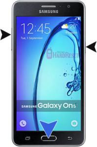 Samsung Galaxy On5 hard reset