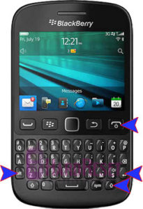 BlackBerry 9720 hard reset