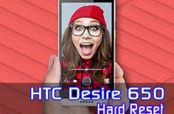 HTC Desire 650 hard reset