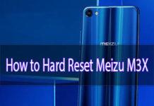 meizu m3x hard reset