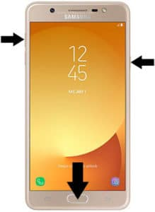 how to hard reset Samsung galaxy j7 max