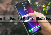 how to hard reset LG v30