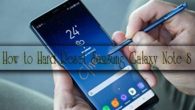 Samsung Galaxy Note8 hard reset